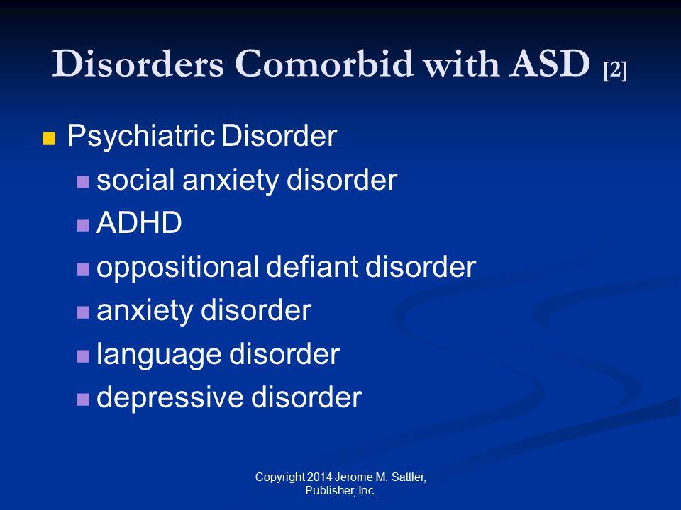 Disorders Comorbid with ASD [2]